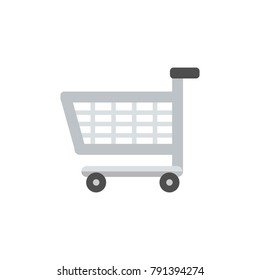 Shopping Cart icon isolated vector illustration on white transparent background