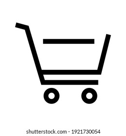 shopping cart icon or logo isolated sign symbol vector illustration - high quality black style vector icons