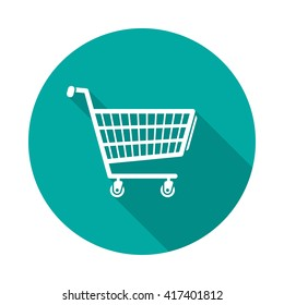 shopping cart icon black icon isolated stock vector royalty free