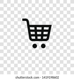 shopping cart icon from miscellaneous collection for mobile concept and web apps icon. Transparent outline, thin line shopping cart icon for website design and mobile, app development