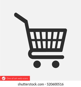 Shopping cart icon. One of set web icons