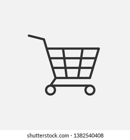 \nShopping Cart Icon. Online Market Illustration As A Simple Vector Sign, Presented on Line Art Style & Trendy Symbol for Design,  Websites, Presentation or Mobile Application.