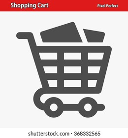 Shopping Cart Icon. Professional, pixel perfect icons optimized for both large and small resolutions. EPS 8 format.