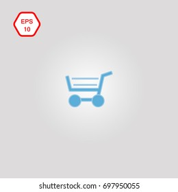 Shopping cart icon with purchases