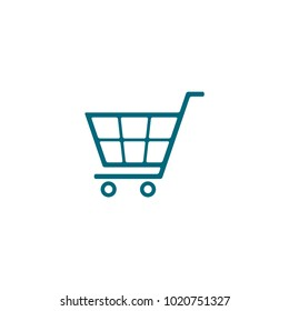shopping cart icon in trendy flat style