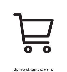 Shopping cart icon in trendy outline style design. Vector graphic illustration. Editable vector stroke. Pixel perfect icon. EPS 10.