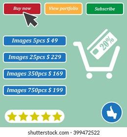 Shopping cart Icon Vector.