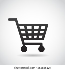 Shopping cart icon. Vector art.