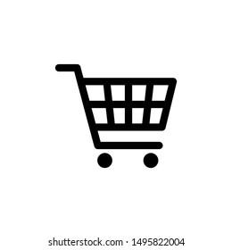 Shopping cart icon vector black. Shopping cart icon. Shopping cart. Business icon.
