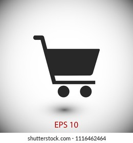 shopping cart icon,   Vector EPS 10 illustration style