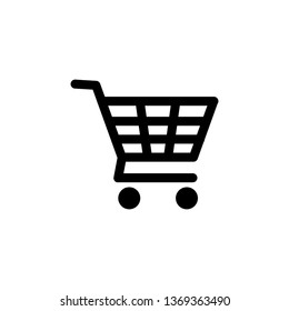 Shopping Cart icon vector . Flat icon shopping cart symbol illustration
