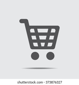 Shopping Cart Icon vector flat design