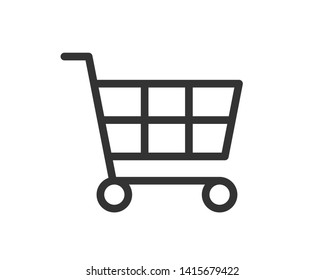 shopping cart icon vector icons for business market