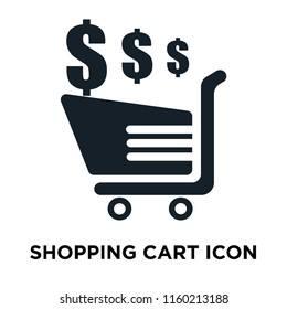 Shopping cart icon vector isolated on white background, Shopping cart transparent sign