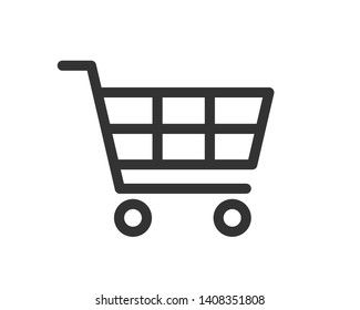 shopping cart icon vector isolated on white background