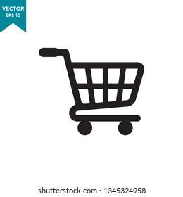 shopping cart icon vector logo template