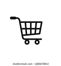 shopping cart icon vector logo template in trendy flat style