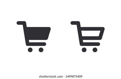 Shopping cart Icon. Vector shopping cart Icon. Shopping trolley for web, mobile apps. Trolley icon vector. Shop icon. Online shop. Market. Grocery bag. Sales symbol. Purchase history. Sale. Store