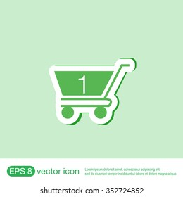 shopping cart icon. vextor illustration. cart online store, Internet shop. basket shopping