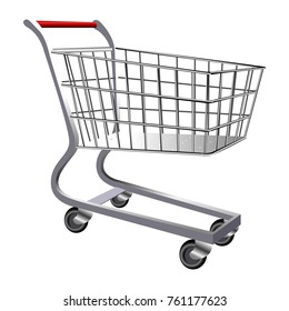 Shopping cart isolated on white background, Vector illustration