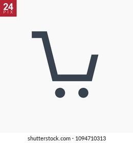 shopping cart line vector minimalistic icon