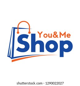 Shopping cart logo and shopping bags logo vector