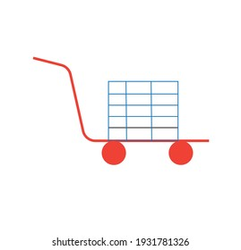 shopping cart logo or clipart or icon