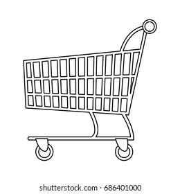shopping cart market digital online concept