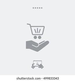Shopping cart - Minimal modern icon