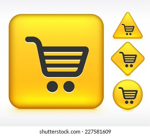Shopping Cart on Yellow Multi Shape Buttons