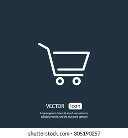 Shopping cart. One of a set of linear web icons