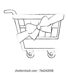shopping cart with ribbon