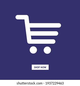 shopping cart. shop now online icon