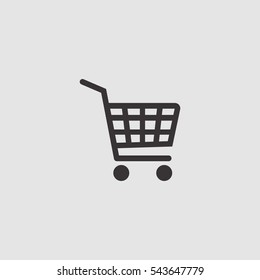 shopping cart simple icon illustration vector, for web and mobile design