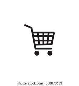 shopping cart simple vector icon illustration