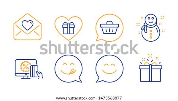 f2784ddc2 Shopping Cart Snowman Love Letter Line Lagervektor (royaltyfri ...