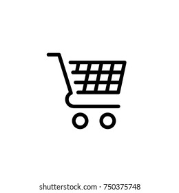 shopping cart supermarket icon vector