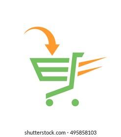 Shopping cart. Trolley