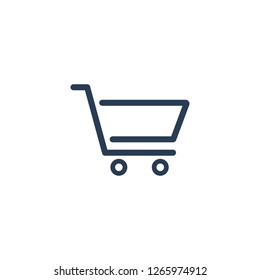 shopping cart trolley icon symbol logo template