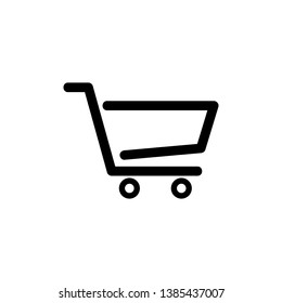 shopping cart trolley icon symbol, vector.