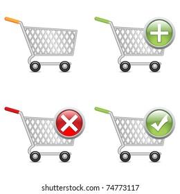 Shopping cart, vector EPS version 8.