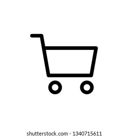 Shopping cart vector icon, online store buy symbol