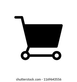 Shopping Chart icon, Trolley for shopping. EPS10.