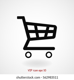 shopping chart icon, vector best flat icon, EPS