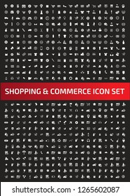 Shopping and commerce vector icon set
