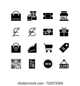 Shopping concept - Icon collection