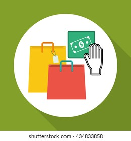 Shopping design. Marketing icon. Isolated illustration, vector