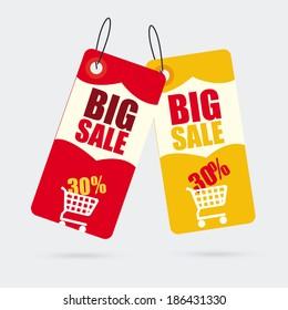 Shopping design over gray background ,vector illustration