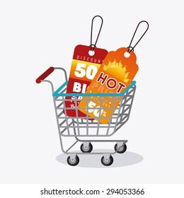 Shopping design, vector illustration eps 10.