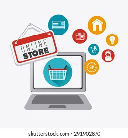 Shopping digital design, vector illustration eps 10